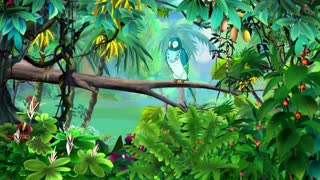 Blue Parrot in a Jungle UHD