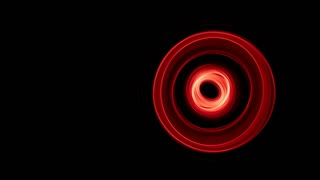 Glowing abstract curved red lines - Light painted 4K video timelapse