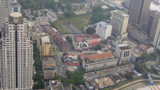 Above View of the Kuala-Lumpur City with Traffic Roads.