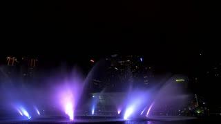 Beautiful Show of Fountains in Kuala-Lumpur City