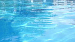 Blue Swimming Pool Surface