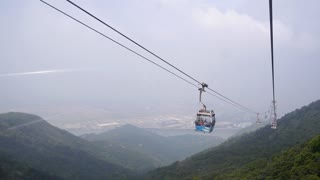 Cable Ride with Mountain View of Hongkong