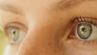 Close up of Beautiful Woman Eyes. Macro.