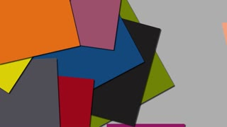 Colofrful Material Shapes Animation. 4K background