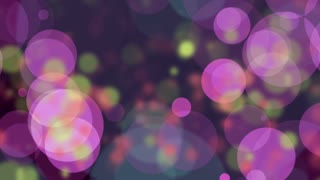 Colofrul Circle Bokeh Background. 4K animation loop. abstract motion