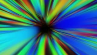 Colorful Infinity Tunnel. Fly in Endless. Color Background Animation