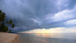 Dark Storm Clouds over Palm Beach