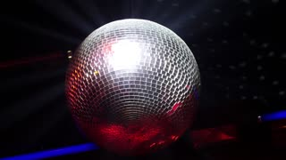 Disco Ball with Light Flare and Smoke - Nightlife and Party