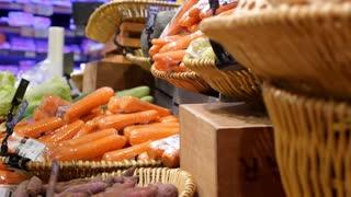 Fresh Organic Vegetables in Supermarket, Farmers Market