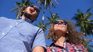 Happy Lifestyle Couple. Happiness Fun Vacation and Travel Concept