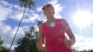 Healthy Lifestyle - Young Woman Jogging in Nature
