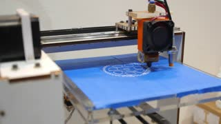 Innovative 3D Printer on Scientific and Technical Exhibition