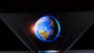 Innovative Technology Hologram of Planet Earth