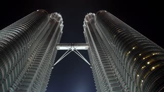 Modern Petronas Twin Towers in Kuala Lumpur City at Night