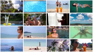 Montage Collection of Luxury Summer Vacation