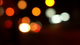 Night City Road. Bokeh Background.