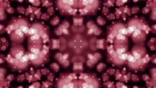 Pink and Red Circle Spheres Kaleida Background. Art Animation. 4K Abstract Texture. LOOP