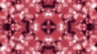 Pink Bokeh Kaleida. Abstract Background. 4K animation loop