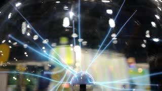 Plasma Globe or Tesla Ball on Science Exhibition