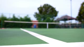 Play Tennis. Slow Motion.