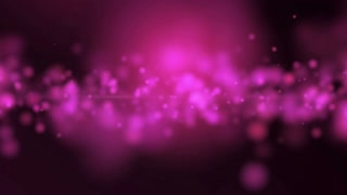 Purple Light and Flying Particles Background. 4K Seamless Loop animation on black
