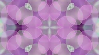 Soft Purple Bokeh Background. Circle Art Animation. 4K Abstract Kaleida Texture. LOOP