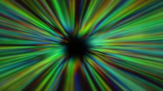 Speed Fly in Infinity Tunnel. Way to Endless. Colorful Background Animation