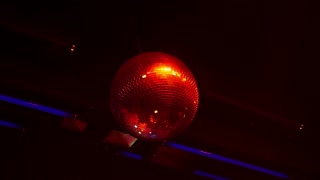 Spinning Bright Colorful Disco-Ball