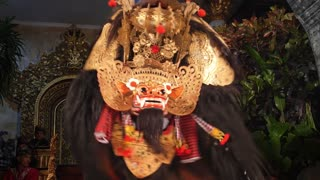 Traditional Barong Dance Performance in Bali, Indonesia