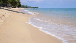 Tropical White Sand Beach. Sea Shore of Exotic Island.