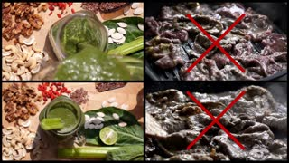 UHD. Drink Healthy Green Smoothie, Stop Eating Meat - Dead Food