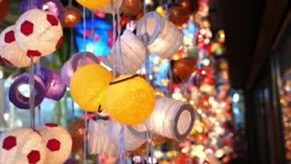 Colorful Garland Lamp Closeup