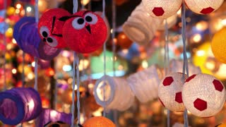 Cozy Garland Lights Hanging In Souvenir Shop