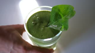 Healthy Eating Concept: Green Smoothie