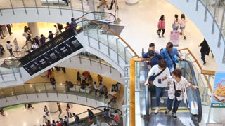 People At Shopping Mall. Bangkok, Thailand