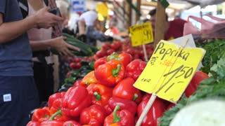 Red Bell Peppers For Sale On Market