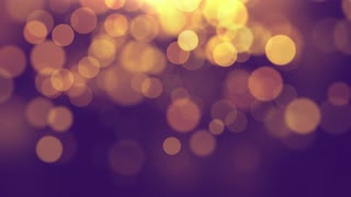 Beautiful  Blurred  Bokeh Glowing Particles Motion Background Full HD