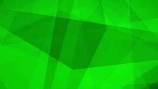 Beautiful Seamless looped abstract Motion background Green Triangles polygons 4K and Full HD