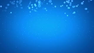 Blue Bubbles Particles Background Looped 4K and Full HD