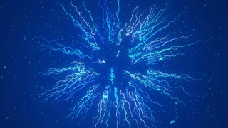 Blue Energy Plasma ball or some Unknown object Seamless Loop