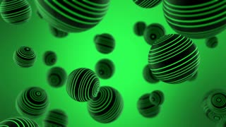 Color Changing Funky Striped Spheres Motion Background