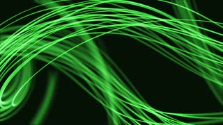 Colorful Curved Curvy Strings or Fibers Beautiful Seamless Looping Motion Background Animated Video Backdrop VJ Loop Green
