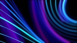 Colorful Curved Lines Seamless Looping motion background Full HD Blue Cyan