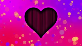 Romantic Sweet Colorful Heart Particles Looping 4K Ultra HD Motion Background Pink Purple Violet Red Yellow