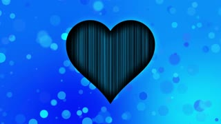 Romantic Sweet Colorful Heart Particles Looping 4K Ultra HD Motion Background Blue Cyan Sky Icy Cool