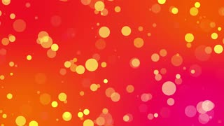 Sweet Colorful Particles Looping 4K Ultra HD Motion Background Orange Red Yellow Golden Pink Warm