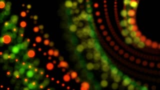 Christmas Lights Abstract Motion Background Seamless Loop Full HD Orange Green Yello