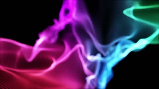 Colorful Smoke Flame Seamless Recreational Abstract Loop Motion Background Magenta Maroon Green Cyan Violet