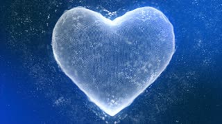 Cool Icy Heart Made of Ice Crystals Seamless Looping Motion Background