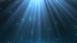 Heavenly Magical Rain of Twinkling Diamonds Beautiful Looped Motion Background (Old Version) 4K and Full HD Aqua Sea Sky Blue Cyan